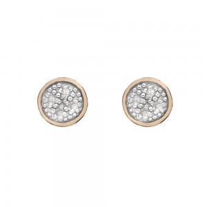 Hot Diamonds Stargazer Circle Earrings Rose Gold Plated