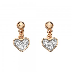 Hot Diamonds Stargazer Heart Earrings Rose Gold Plated