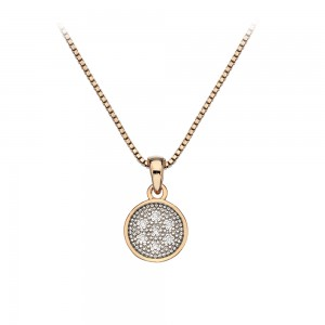 Hot Diamonds Stargazer Circle Pendant Rose Gold Plated
