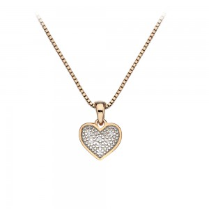 Hot Diamonds Stargazer Heart Pendant Rose Gold Plated