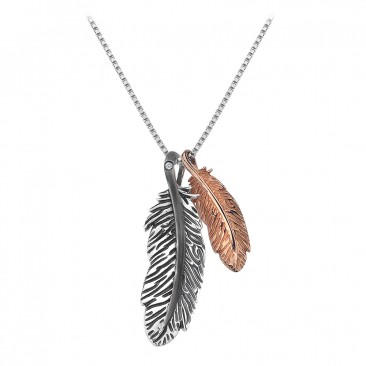 Hot Diamonds Feather Double Drop Pendant made from Sterling Silver & Rose Gold Plate is a beautiful addition to any jewellery collection. The Feather collection from Hot Diamonds is made from Sterling Silver & Rose Gold plate to create some truly stylish and unique pieces all adorned with Hot Diamonds signature diamonds.  All Hot Diamonds pieces are made from .925 Sterling Silver and have been Rhodium plated to keep their shine and sparkle. Every item has a Hot Diamonds signature diamond to make each and every one special.