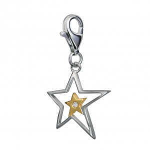 Hot Diamonds Superstar Silver Charm
