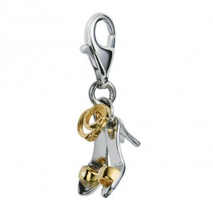 Hot Diamonds Shoe Goddess Silver & Gold Charm