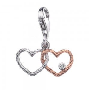 Hot Diamonds Tied Knot Charm