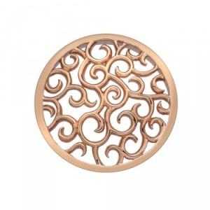 Winding Paths Rose Gold Plated Emozioni Coin