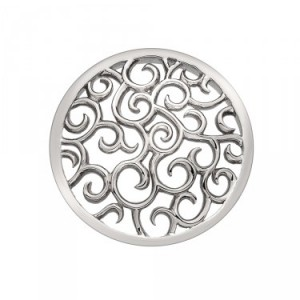 Winding Path Silver Plated Emozioni Coin