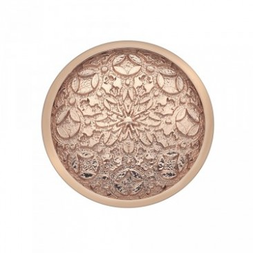 Mystical Map Rose Gold Plated Emozioni Coin - Angled