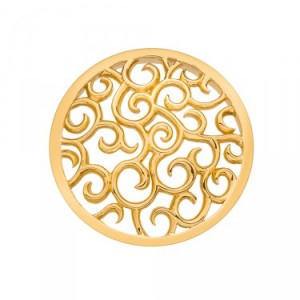 Winding Path Yellow Gold Plated Emozioni Coin