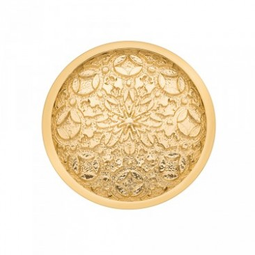 Mystical Map Yellow Gold Plated Emozioni Coin - Straight