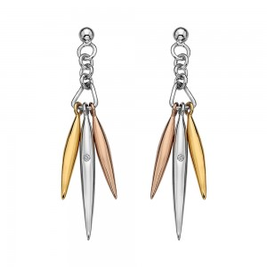 Hot Diamonds Icicle Rose & Yellow Gold Drop Earrings