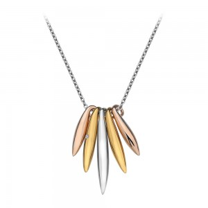 Hot Diamonds Icicle Rose & Yellow Gold Necklace
