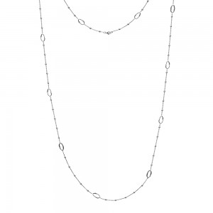 Hot Diamonds Orbit Silver Long Length Necklace