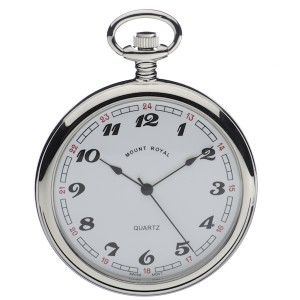 Mount Royal Chrome Plated Pocket Watch