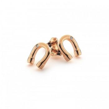 Hot Diamonds Lucky Horseshoe Rose Gold Earrings
