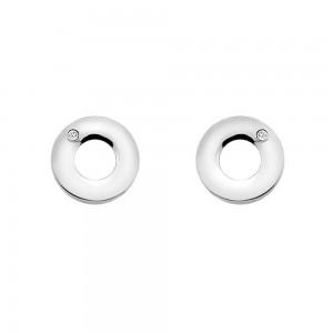 Hot Diamonds Emerge Open Circle Earrings