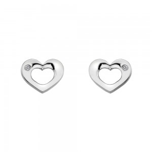 Hot Diamonds Emerge Open Heart Earrings