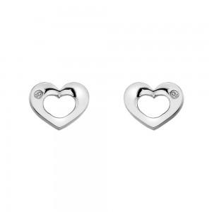 Hot Diamonds Emerge Open Heart Earrings