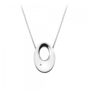 Hot Diamonds Emerge Open Oval Pendant