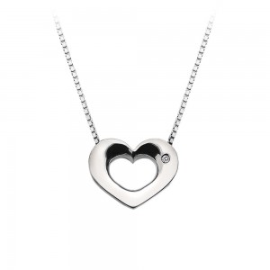 Hot Diamonds Emerge Open Heart Pendant