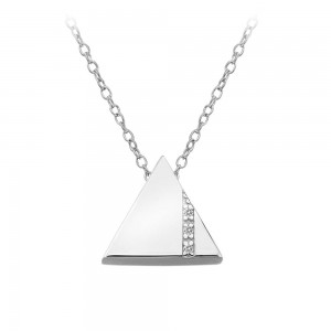 Hot Diamonds Silhouette Silver Open Triangle Pendant