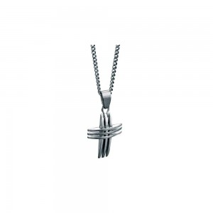 fredbennett Stainless Steel Cross & Chain. P2563