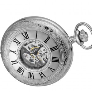Woodford Sterling Silver Half Hunter Pocket Watch.1072